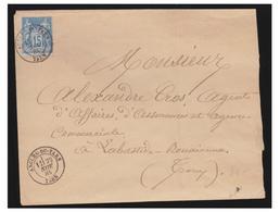 FRANCE -TARN-1838--LETTRE D'ANGLES POUR MABASTIDE ROUAIROUX --T à D TYPE 17BIS SUR 15c SAGE-- - Poststempel (Briefe)