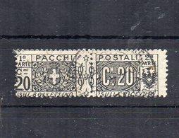 Italia - Regno - 1914/1923 - Pacchi Postali - 20 Centesimi - Nodo Savoia - Usato - (FDC12076) - Paquetes Postales