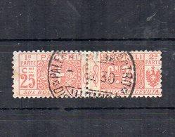 Italia - Regno - 1914/1923 - Pacchi Postali - 25 Centesimi - Nodo Savoia - Usato - (FDC12077) - Paquetes Postales