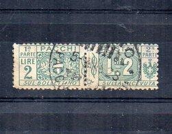 Italia - Regno - 1914/1923 - Pacchi Postali - 2 Lire - Nodo Savoia - Usato - (FDC12080) - Paquetes Postales