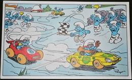 Rare Carte Postale Meilleurs Voeux Offerte Par BP Les Schtroumpfs 1985 - Cartes Postales