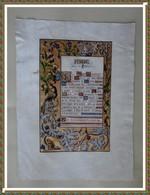 PRIERE POUR LA FRANCE - ENLUMINURE - Prints & Engravings