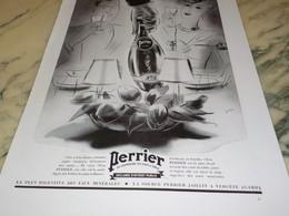 ANCIENNE PUBLICITE TETE A TETE  PERRIER  1939 - Posters