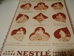 ANCIENNE PUBLICITE LA REUSSITE DE BEBE NESTLE  1939 - Posters