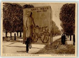52862533 - Sign. Laeuger, M. Carl Benz-Denkmal - Postcards