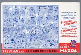 Buvard PILE MAZDA (ill Dubout)  (PPP9355) - Piles