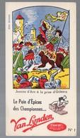 Buvard PAIN D'EPICE VAN LYNDEN Jeanne D'arc  N°1 (PPP9356) - Pain D'épices