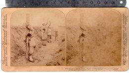 CHINE CHINA EXECUTION  CRIMINELS CHINOIS PHOTOS STEREO SUR CARTON 1900 UNDERWOOD ( - China