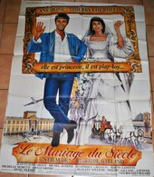 Rare Grande Affche Du Film Le Mariage Du Siècle Anémone Et Thierry Lhermitte 157 X 116 Cm - Posters