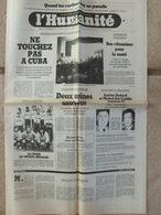 Journal L'Humanité (17 Nov 1981) Cuba - Goncourt Et Renaudot - Vernon - Paradis Fiscaux - Procès De Broglie - Newspapers