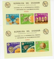 Equateur 1966-UIT-Lunik-Early Bird-MI B 15/17***MNH Dentelé - Zuid-Amerika