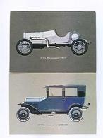2 AK Opel, Rennwagen 1913, Kimousine 1925/26, Auto, Ungelaufen - Postcards