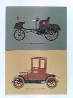 2 AK Opel, Patent Motorwagen 1898, Stadt-Coupé 1908, Auto, Ungelaufen - Postcards