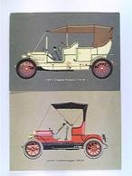 2 AK Opel, Doppel-Phaeton 1908, Doktorwagen 1909, Auto, Ungelaufen - Postcards