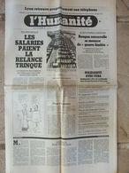 Journal L'Humanité (12 Nov 1981) Sécurité Sociale - I Gandhi - Chalandonette Autoroutière - All Blacks- Navette Spatiale - Newspapers