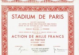 75-STADIUM DE PARIS. Action 1941 Couleur Rouge - Autres