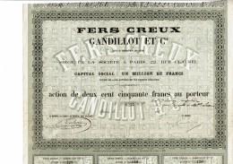 75-FERS CREUX GANDILLOT & Cie. Action 1865 - Other