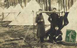 Carte Photo Militaires Camp De Meu RV - Photographie