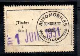 Fiscal, Fiscaux, Automobiles, 1931, N°  2 Dentelé - Cote 110 € - Fiscaux