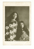 New Zealand (NZ), Roturua, Two Young Maori Women, Cloaks, Tiki Pendant, Printed Postcard - New Zealand