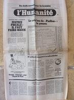 Journal L'Humanité (29 Oct 1981) Paribas - Droits Locataires - Enquête Juge Michel - Procès Knobelspeiss - St Gratien - Newspapers