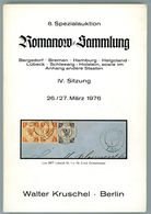 8. Kruschel Auktion 1976 - Romanow Teil 4 Bergedorf, Bremen, Hamburg, Helgoland, Lübeck + Schleswig Hol Seltener Katalog - Auktionskataloge
