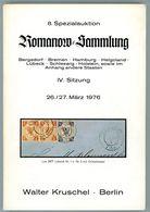8. Kruschel Auktion 1976 - Romanow Teil 4 Bergedorf, Bremen, Hamburg, Helgoland, Lübeck + Schleswig Hol Seltener Katalog - Catalogues De Maisons De Vente
