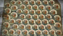Rare Grande Planche Glassoïd Logos Lait Pour Bébé SUIA ông Tho Marque Vendue En Indochine Années 30-50 60 X 41 Cm - Plaques Publicitaires