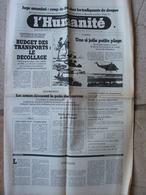 Journal L'Humanité (28 Oct 1981) Juge Assassiné - Baîllonner La Presse - Procès Knobelspeiss - Désarmement - Newspapers