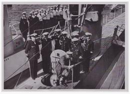 DT- Reich (000425) Propaganda Sammelbild Adolf Hitler Bild 159, Der Führer Besichtigt Im August 1935 In Kiel Die Ersten - Germany