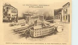 """75 6 PARIS 3° ARRONDISSEMENT - 31, RUE PASTOURELLE - LA COUTELLERIE INOXYDABLES """"APOLLONOX"""" - LES USINES De La Société - Paris (03)"""