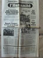 Journal L'Humanité (27 Oct 1981) Nationalisations- Hassan II- Histoire De La Cité Fleurie- Ballets Bleus- Gardiens Vitry - Newspapers