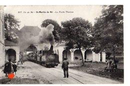 23379-LE-17-Ile De Ré-St-Martin De Ré-La Porte Thoiras-------------animée-train  à Vapeur - Ile De Ré
