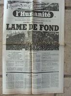 Journal L'Humanité (26 Oct 1981) Contre La Menace Nucléaire - Ballets Bleus - Knobelspeiss - Claude Simon - Newspapers