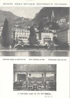 Montreux -HOTEL BEAU-RIVAGE Carte Publicitaire Photo Env. 1965 - VD Waadt