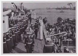 DT- Reich (000450) Propaganda Sammelbild Adolf Hitler Bild 160, Besuch Des Führers Auf Dem Linienschiff - Germany