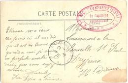 GUERRE 14-18 – 3me REGIMENT D'ARTILLERIE COLONIALE * 23e BATTERIE * Par DIJON à Suivre TàD De 1914 - Marcophilie (Lettres)