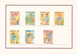 Rwanda - COB 1169 / 76 - 7 épreuves De Couleurs - Religieus - Visite Monseigneur Cardijn - - Rwanda