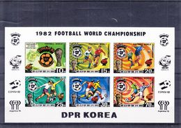 Corée - Michel 2099 / 2103 + 1 Timbre - En Feuille NON Dentelé - Coupe Du Monde Espana 82 - Valeur ± 46 Euros - World Cup