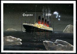 AF0728 Guyana 1998 Titanic Cruise M MNH - Barcos