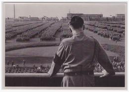 DT- Reich (000473) Propaganda Sammelbild Deutschland Erwacht Bild 156, Der Führer Spricht Zur SA, Dortmund 1933 - Germany