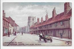 Stratford,-on-Avon. Grammar School And Alms Houses - Tuck Oilette 7526 - Stratford Upon Avon