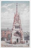 Stratford,-on-Avon. The American Memorial Fountain - Tuck Oilette 7526 - Stratford Upon Avon