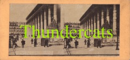 ANCIENNE PHOTO STEREOSCOPIQUE STEREOVIEW PHOTO STEREO FOTO PARIS LA BOURSE - Stereo-Photographie