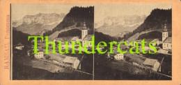 ANCIENNE PHOTO STEREOSCOPIQUE STEREOVIEW PHOTO STEREO FOTO RAMSAU PANORAMA AUSTRIA - Stereo-Photographie