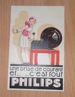 Carte-pub.Philips.Une Prise De Courant Et ... ... C'est Tout. - Publicité