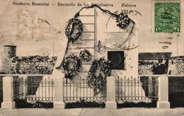 CUBA - HABANA - STUDENTS MEMORIAL RECUERDO DE LOS ESTUDIANTES - Postcards
