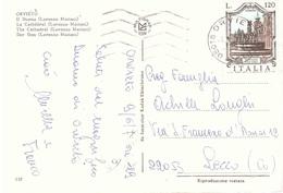 £120 FONTANA PACASSI SU CART. ORVIETO IL DUOMO - 6. 1946-.. Repubblica