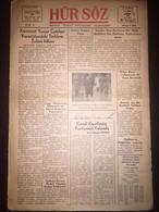 Cyprus Nicosia Lefkosa - Turkish Newspaper Hur Soz 11 October 1946 - Livres, BD, Revues