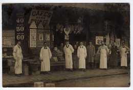 A Identifier : Commerce : Café , Volailles, Vins,... Carte Photo - Paris ??? - To Identify